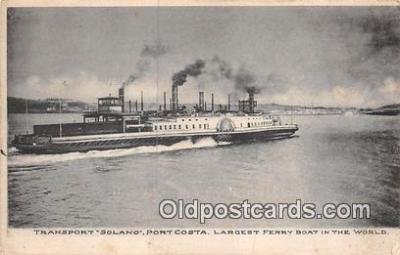 shi045081 - Transport Solano Port Costa Ship Postcard Post Card