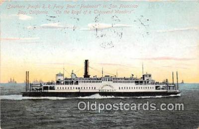 shi045085 - Southern Pacific RR Ferry Boat Piedmont San Francisco Bay, California USA Ship Postcard Post Card