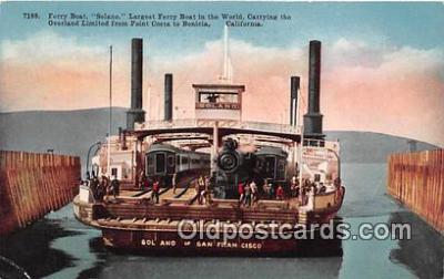 shi045087 - Ferry Boat Solano Point Costa, Benicia, California USA Ship Postcard Post Card