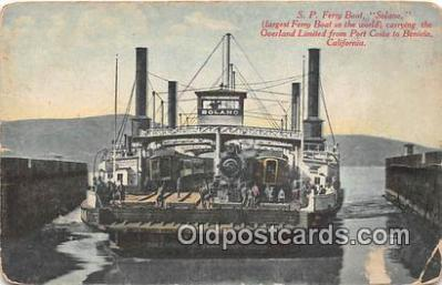 shi045088 - SP Ferry Boat Solano Port Costa to Benicia, California USA Ship Postcard Post Card