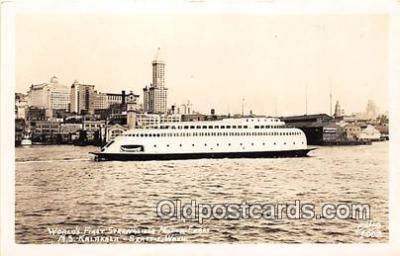 shi045100 - Real Photo - World's First Streamliner Motor Seattle, Washington Ship Postcard Post Card