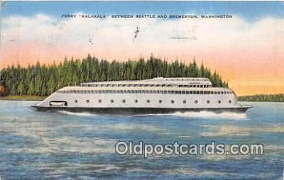shi045103 - Ferry Kalakala Bremerton, Washington USA Ship Postcard Post Card