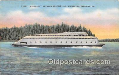 shi045105 - Ferry Kalakala Bremerton, Washington USA Ship Postcard Post Card