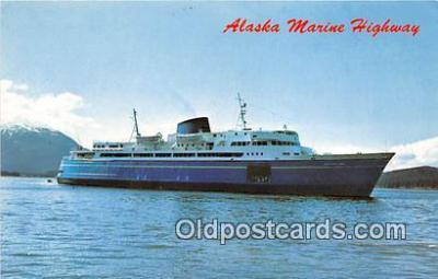 shi045106 - MV Malaspina, MV Taku, MV Matanuska Alaska Marine Highway Ship Postcard Post Card