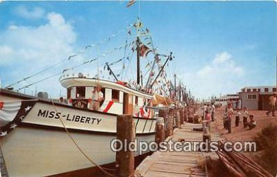 shi045120 - Shrimp Boats, Blessing of the Fleet Gulf Coast Ship Postcard Post Card