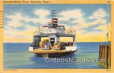 shi045125 - Galveston Bolivar Ferry Galveston, Texas USA Ship Postcard Post Card