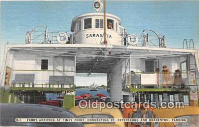shi045127 - Ferry, Piney Point St Petersburg, Bradenton, Florida USA Ship Postcard Post Card