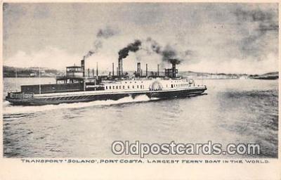 shi045130 - Transport Solano Port Costa Ship Postcard Post Card