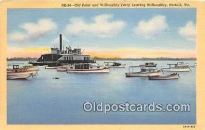 shi045131 - Old Point & Willoughby Ferry Norfolk, Virginia USA Ship Postcard Post Card