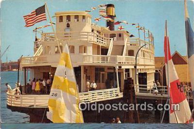 shi045138 - Old Ferry Boat Sierra Nevada San Pedro, California USA Ship Postcard Post Card