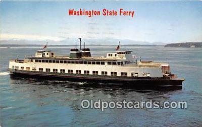 shi045139 - Washington State Ferry, Evergreen State  Ship Postcard Post Card