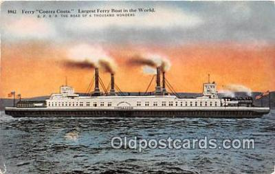 shi045146 - Ferry Contra Costa Carquinez Straints Ship Postcard Post Card