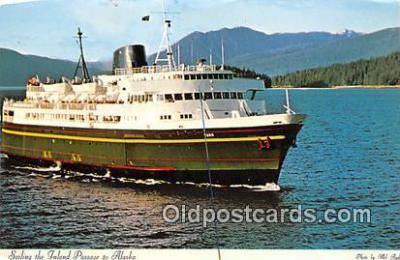 shi045167 - Sailing in Inland Passage Alaska USA Ship Postcard Post Card