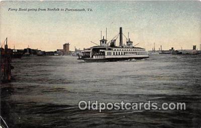 shi045187 - Ferry Boat Norfolk, Portsmouth, VA USA Ship Postcard Post Card