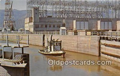 shi045189 - Bonneville Dam Columbia River Ship Postcard Post Card