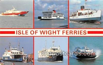 shi045201 - Red Runnel Sheerwater Hydrofoil Isle of Wight Ferries Ship Postcard Post Card
