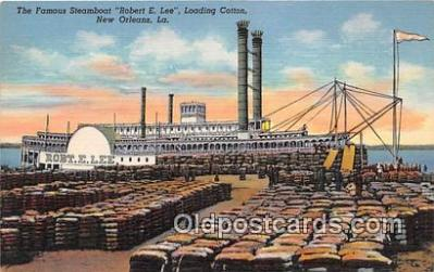 shi045202 - Steamboat Robert E Lee New Orleans, LA USA Ship Postcard Post Card