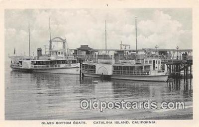 shi045205 - Glass Bottom Boats Catalina Island, California Ship Postcard Post Card