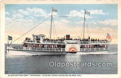 shi045206 - Glass Bottom Boat Emperor Santa Catalina Island, California Ship Postcard Post Card