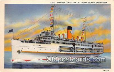 shi045208 - Steamer Catalina Catalina Island, California Ship Postcard Post Card