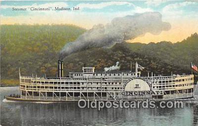 shi045235 - Steamer Cincinnati Madison, Ind USA Ship Postcard Post Card