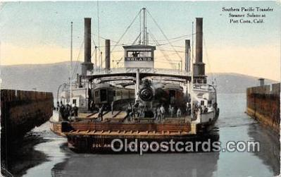 shi045238 - Southern Pacific Transfor Port Costa, California USA Ship Postcard Post Card