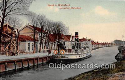 shi045239 - Broek in Waterland Aanlegplaats Markerboot Ship Postcard Post Card