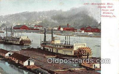 shi045241 - Monogahela River Pittsburg, PA USA Ship Postcard Post Card