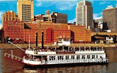 shi045242 - Josiah Snelling Sternwheelers Ship Postcard Post Card