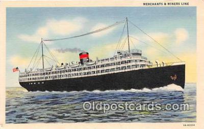shi045250 - Merchants & Miners Line W Palm Beach, Florida USA Ship Postcard Post Card