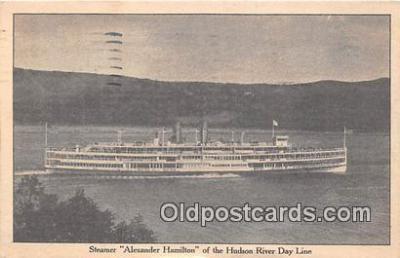 shi045251 - Steamer Alexander Hamilton Hudson River Day Line Ship Postcard Post Card