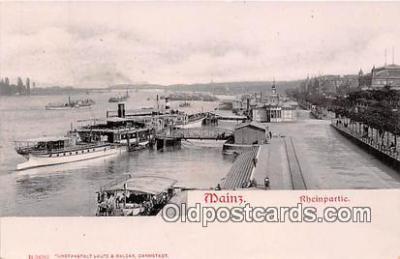 shi045253 - Mainz Rheinpartie Ship Postcard Post Card