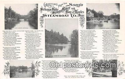 shi045266 - Steamboat Co Songo Ship Postcard Post Card