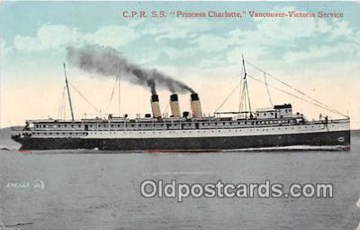 shi045269 - CPR SS Princess Charlotte Vancouver, Victoria Service Ship Postcard Post Card