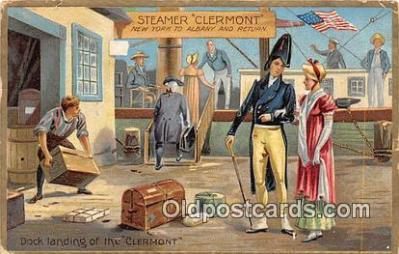 shi045274 - Steamer Clermont New York to Albany USA Ship Postcard Post Card