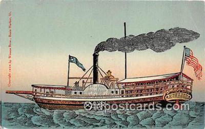 shi045282 - Steamboat Lake Champlain Ship Postcard Post Card