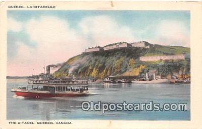 shi045284 - The Citadel Quebec, Canada Ship Postcard Post Card