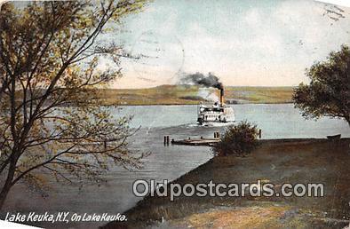 shi045286 - Lake Keuka, NY USA Ship Postcard Post Card