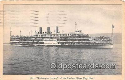shi045291 - Str Washington Irving Hudson River Day Line Ship Postcard Post Card