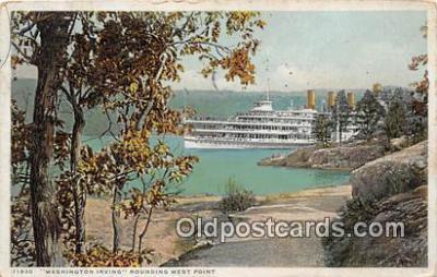 shi045292 - Washington Irving Rounding West Point, NY  USA Ship Postcard Post Card