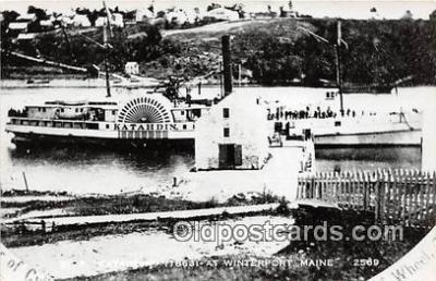 shi045293 - Reproduction - St P Katahdin Winterport, Maine USA Ship Postcard Post Card