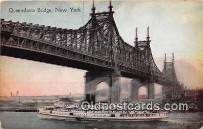shi045295 - Queensboro Bridge New York USA Ship Postcard Post Card
