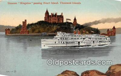 shi045297 - Steamer Kingston Heart Island, Thousand Islands Ship Postcard Post Card