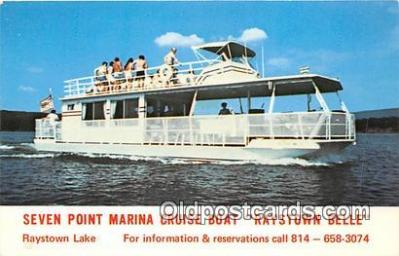shi045303 - Seven Point Marina Cruise Boat Raystown Bell, Raystown Lake Ship Postcard Post Card