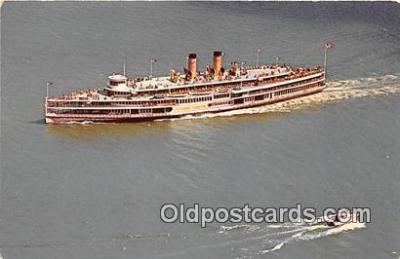 shi045312 - Alexander Hamilton, Hudson River Day Line's Ship Hudson River, Sept 1970 Ship Postcard Post Card