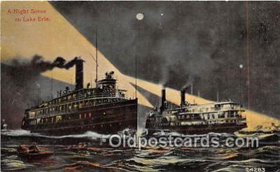 shi045315 - Lake Erie  Ship Postcard Post Card