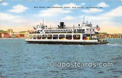 shi045342 - San Diego & Coronado Ferry San Diego, California USA Ship Postcard Post Card