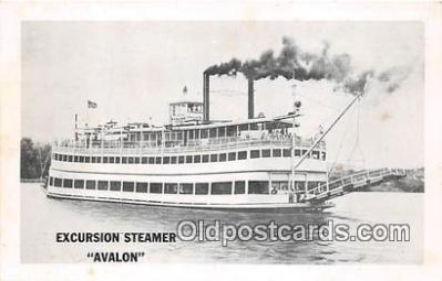 shi045350 - Excursion Steamer Avalon Ship Postcard Post Card
