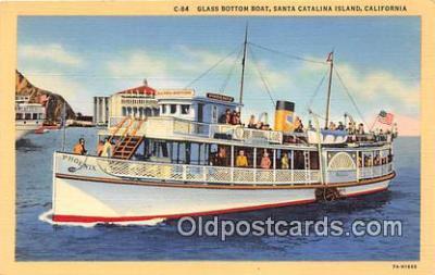 shi045354 - Glass Bottom Boat Santa Catalina Island, California USA Ship Postcard Post Card