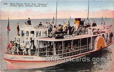 shi045355 - Glass Bottom Power Boat Empress Santa Catalina Island, California USA Ship Postcard Post Card
